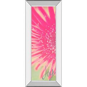 """""""Joy Flower"""" By Susan Bryant Mirror Framed Print Wall Art"""