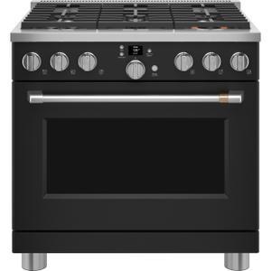 "Cafe AppliancesCafé™ 36"" Smart All-Gas Commercial-Style Range with 6 Burners (Natural Gas)"