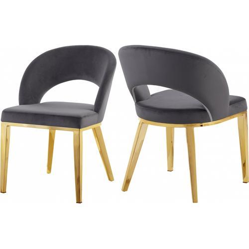 "Roberto Velvet Dining Chair - 23"" W x 25"" D x 32.5"" H"
