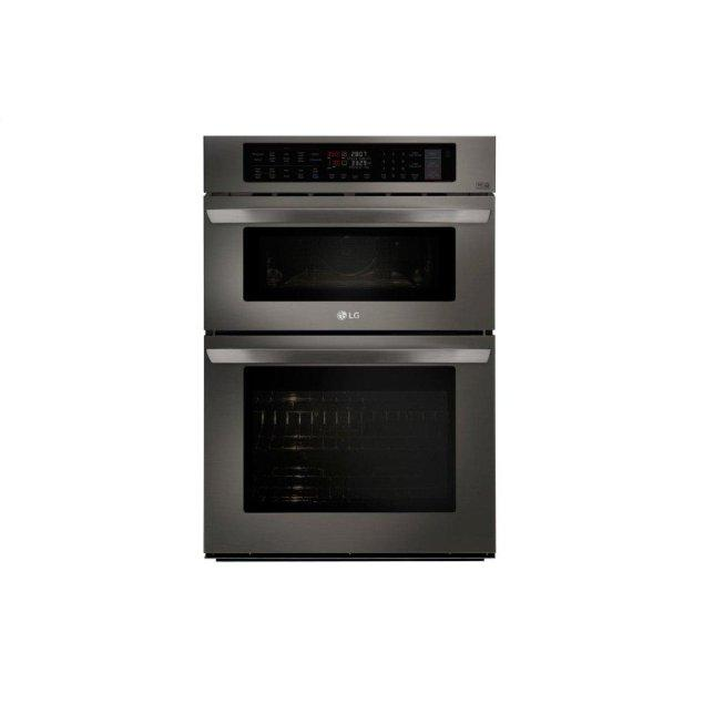 LG Appliances 1.7/4.7 cu. ft. Smart wi-fi Enabled Combination Double Wall Oven