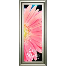 """Live Strong Daisy"" By Susan Bryant Framed Print Wall Art"