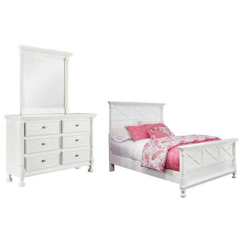 Product Image - Full Panel Bed With Mirrored Dresser