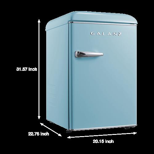 Galanz - Galanz 2.5 Cu Ft Retro Single Door Refrigerator in Bebop Blue