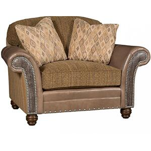 Katherine Leather/Fabric Chair & 1/2