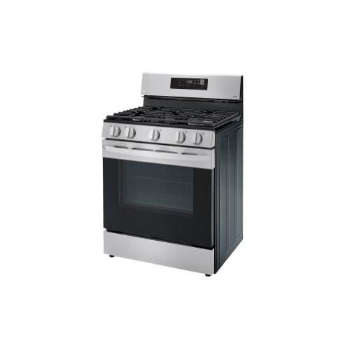 LG - 5.8 cu ft. Smart Wi-Fi Enabled Gas Range with EasyClean®