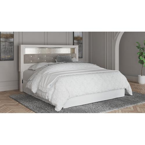 Altyra King Upholstered Panel Bookcase Headboard