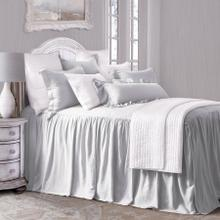 See Details - Luna Bedspread Set W/ Drop Skirt, Gray - Full
