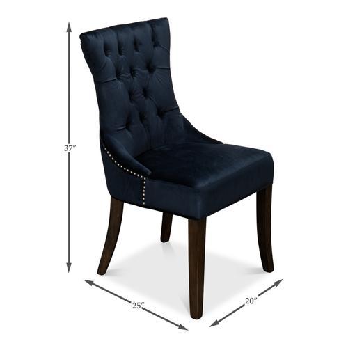 Sophie Side Chair, Blue Velvet