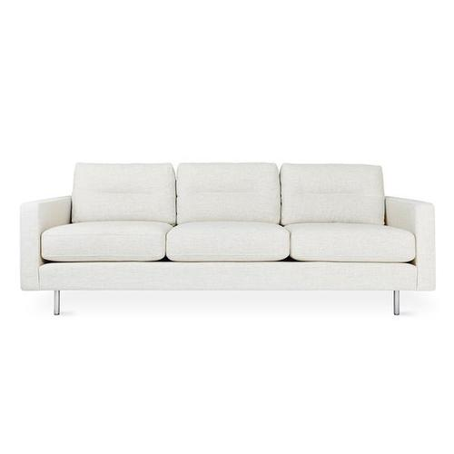 Product Image - Logan Sofa Huron Ivory / Stainless Steel