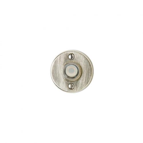 Round Metro Doorbell Button White Bronze Dark
