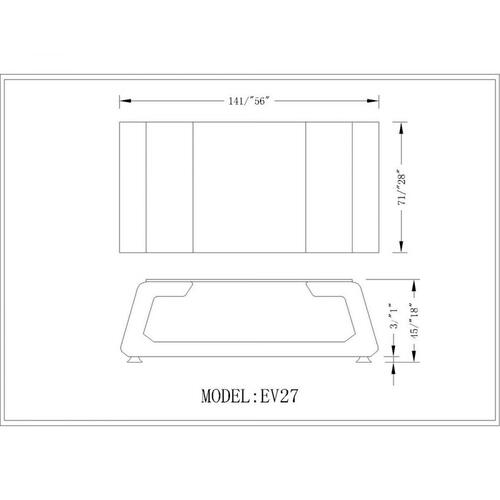Divani Casa EV27 Modern White Bonded Leather Coffee Table w/ Glass Top
