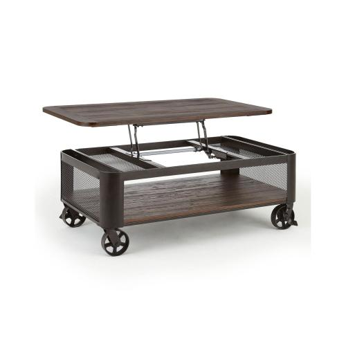 Barrow Lift Top Cocktail Table w/ Casters