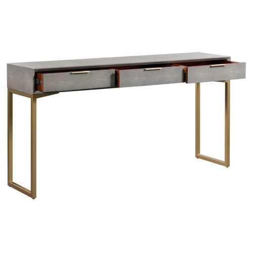 Tov Furniture - Pesce Shagreen Console Table