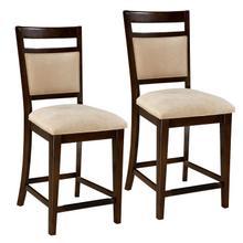 See Details - Avion 2-Pack Upholstered Barstools, Cherry Brown
