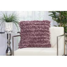 """Shag Dl058 Lavender 20"""" X 20"""" Throw Pillow"""