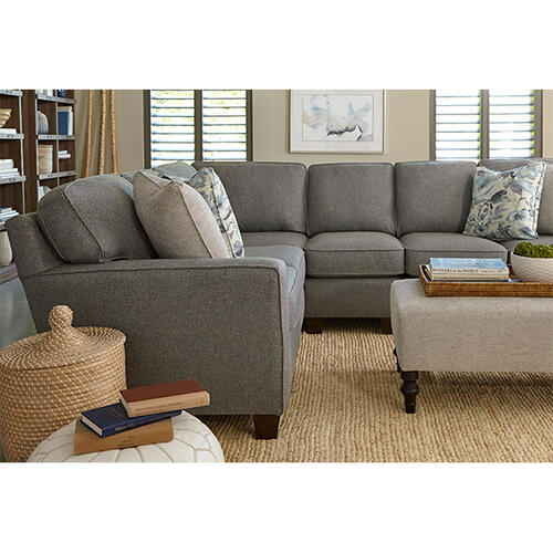 ANNABEL SECTIONAL TRACK ARM, TAPERED LEG Stationary Sectional