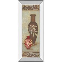 """Brown Vase"" By Stephanie Marrott Mirror Framed Print Wall Art"