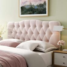 View Product - Annabel King Diamond Tufted Performance Velvet Headboard in Pink