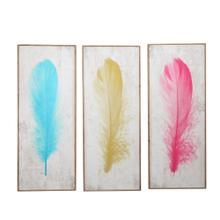 See Details - S/3 Colored Feather Wall Decor, Wb