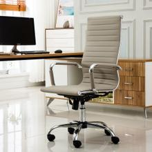 Panoton Chromel Contemporary High Back Office Chair, Taupe