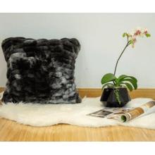 "Nuevo Faux Fur Pillow Tie-Dye Charcoal by Rug Factory Plus - 20"" x 20"" / Tie-Dye Charcoal"