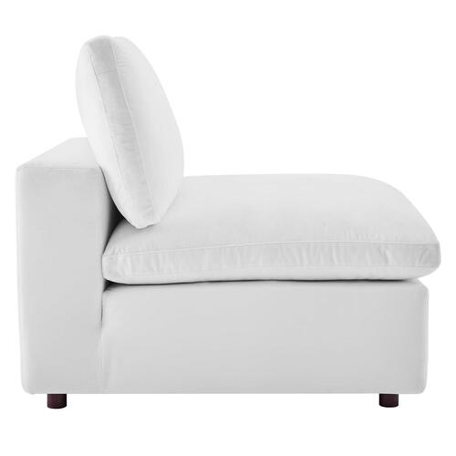 Modway - Commix Down Filled Overstuffed Performance Velvet Armless Chair in White