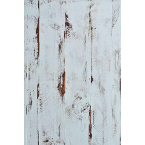 Curio Cabinet - Distressed White w/Walnut Top