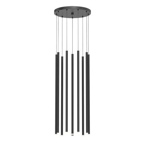 "Sonneman - A Way of Light - Light Chimes LED Pendant [Size=10-Light 32"", Color/Finish=Satin Black]"