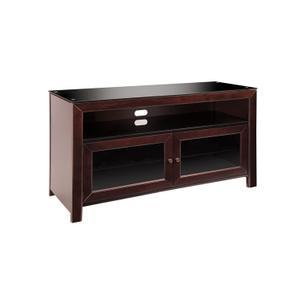 Bello - No Tools Assembly Deep Mahogany Finish Wood A/V Cabinet