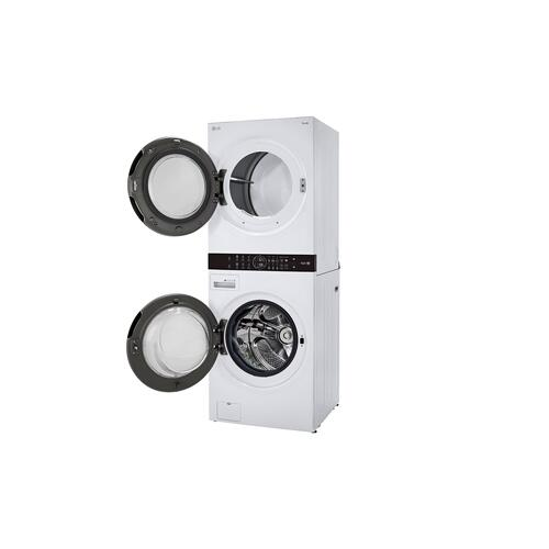 LG - Single Unit Front Load LG WashTower™ with Center Control™ 4.5 cu. ft. Washer and 7.4 cu. ft. Gas Dryer