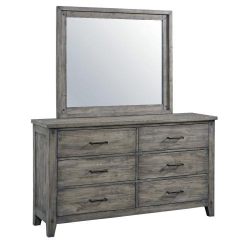 Nelson Grey 6-Drawer Dresser, Weathered Grey