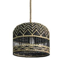 """See Details - Helios 14"""" Round Rattan and Seagrass Pendant"""