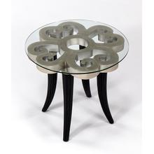 """View Product - End Table with Glass 27x27x26"""""""