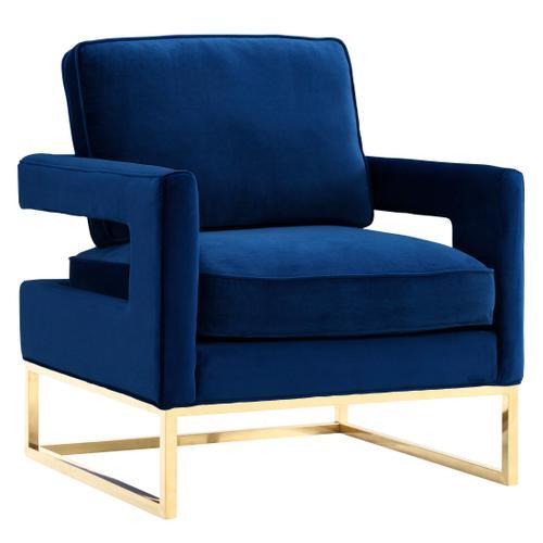 Tov Furniture - Avery Navy Velvet Chair