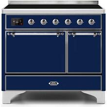 Majestic II 40 Inch Electric Freestanding Range in Blue with Chrome Trim
