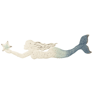 Blue Ombre Embossed Mermaid Wall Decor