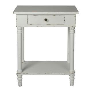 See Details - Chapel Side Table (distressed White)