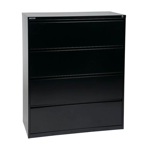 """42"""" Wide 4 Drawer Lateral File With Core-removeable Lock & Adjustable Glides"""