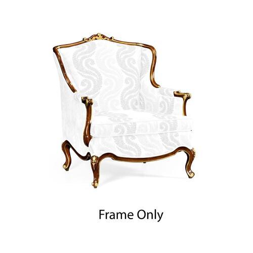Armchair with Gilded Carving, Frame Only