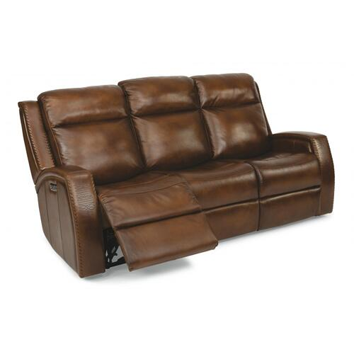 Mustang Power Reclining Sofa with Power Headrests