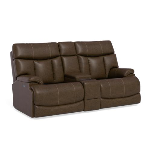 Gallery - Clive Power Reclining Loveseat with Console and Power Headrests and Lumbar