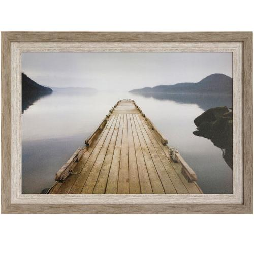 Style Craft - OFF ORCAS ISLAND  42in w X 30in ht  Textured Framed Print  Made in USA