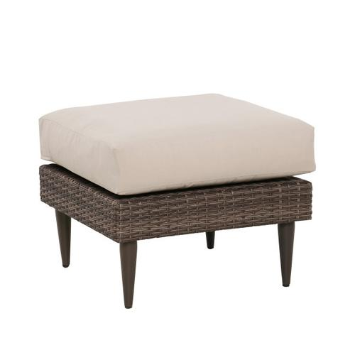 Transitional Weaved Ottoman in Brown