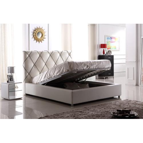 Modrest C620 Modern White & Black Bonded Leather Bed