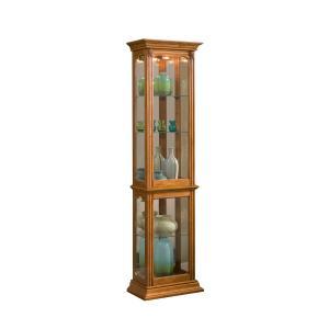 Pulaski Furniture - Gallery Style 4 Shelf Curio Cabinet in Golden Oak Brown