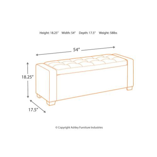 Signature Design By Ashley - Upholstered Storage Bench