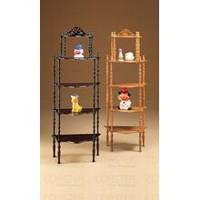 """See Details - ETAGERE 5 TIER WOOD CHERRY,18.75""""x11""""x51""""H"""