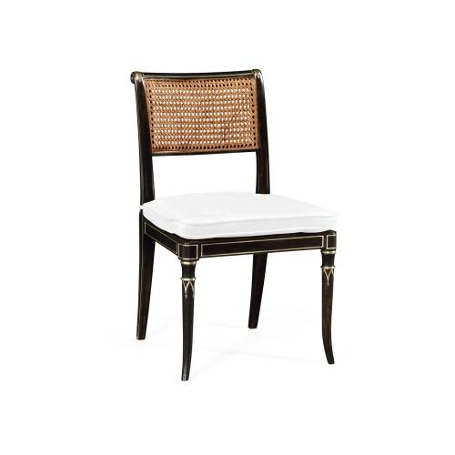 Linden Charcoal Wash Dining Side Chair, Upholstered in COM
