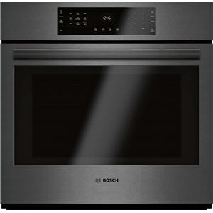 Bosch800 Series Single Wall Oven 30'' Black Stainless Steel HBL8443UC