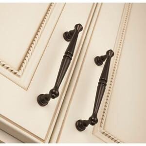 Top Knobs - Edwardian Pull 3 3/4 Inch (c-c) Brushed Bronze